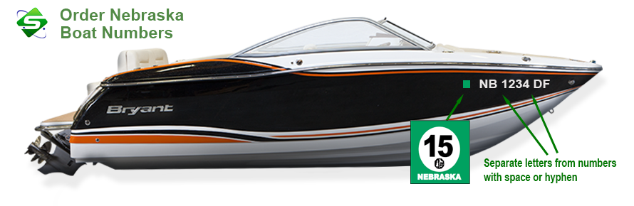 Order YOUR Boat Numbers - With Same Day Turn Around