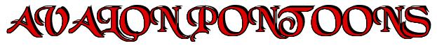 "Rendering ""AVALON PONTOONS"" using Black Chancery"
