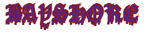 "Rendering ""BAYSHORE"" using Dracula Blood"