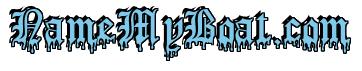 "Rendering ""NameMyBoat.com"" using Dracula Blood"