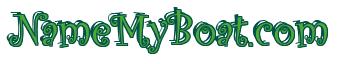 """Rendering """"NameMyBoat.com"""" using Curlz"""