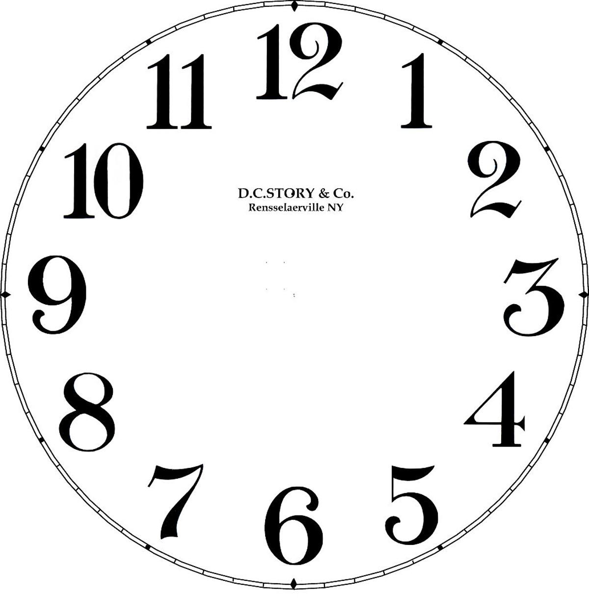 Clock Decal