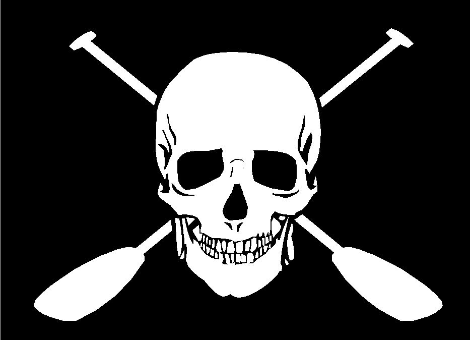 Paddle and Skull Decal Skull Decal