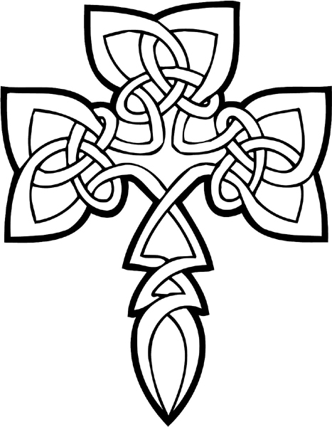 General decals beautiful celtic for Celtic cross coloring pages