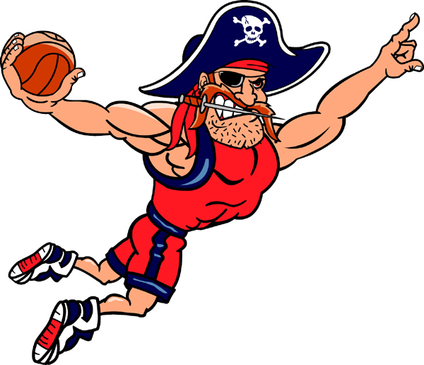 Image result for pirate playing basketball