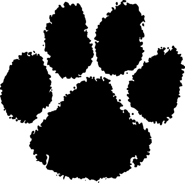 tiger paw print clip art Car Pictures