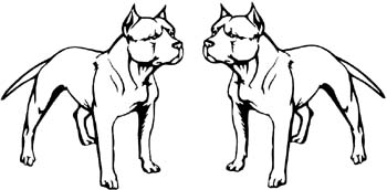 great page coloring sky two pit bull dogs facing one another vinyl decal customized online with coloring pages of pit bulls