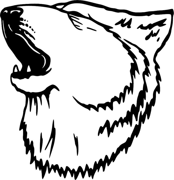 wolf howl Colouring Pages