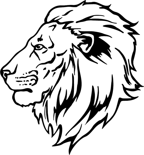 lion head coloring pages - lion face drawing color