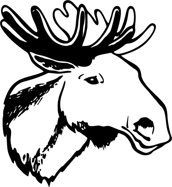 Moose head drawing outline - photo#6