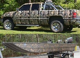 camoflauge kits for trucks, boats, atv's