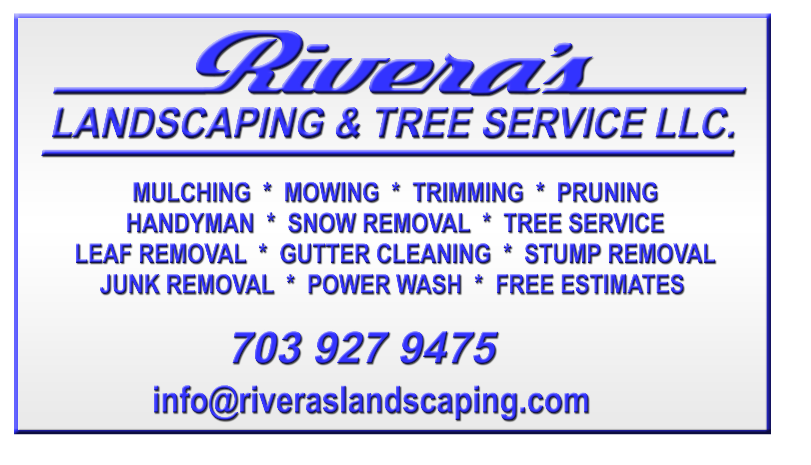 Journal Of Sign Designs And Proofs 187 Riveras Landscaping