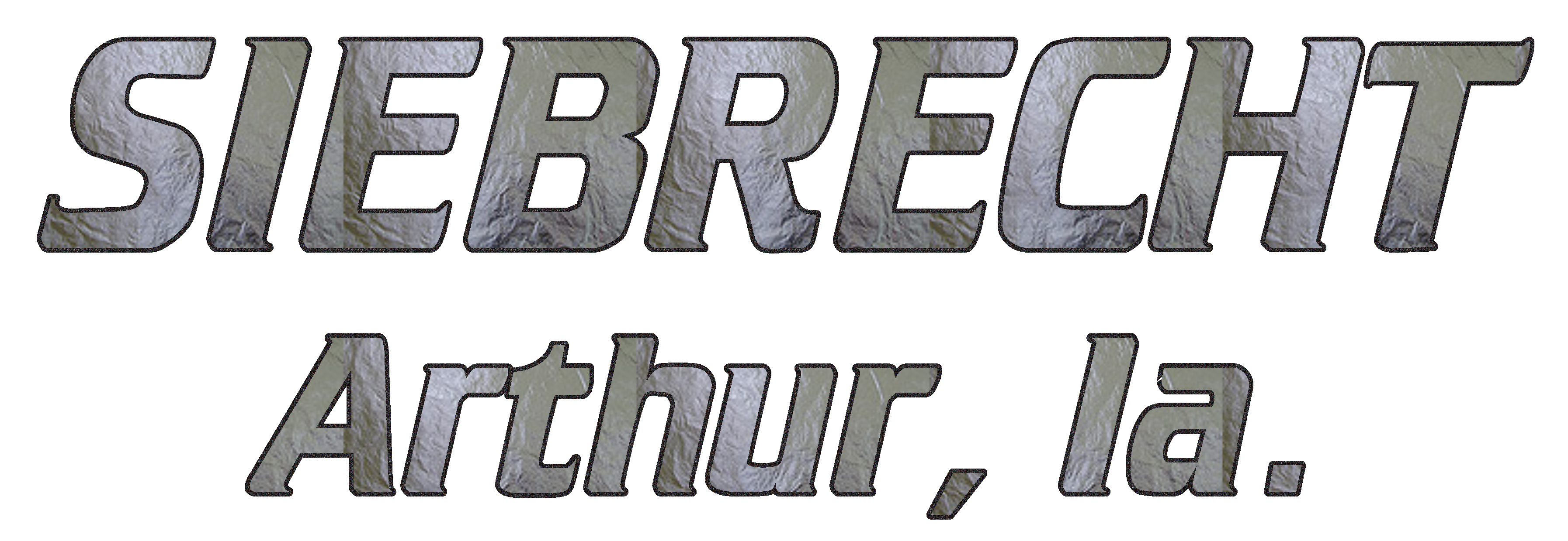 SIEBRECHT TRUCK LETTERING