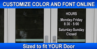 Store Front Business Hour Decals