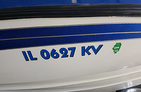 Custom Boat Registration & Numbers - Sign Specialist