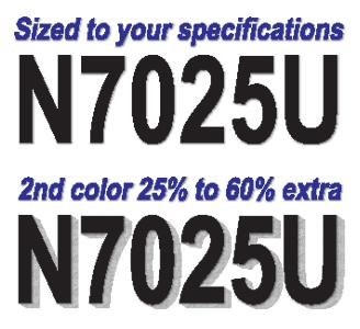 Custom Airplane Registration Lettering Aircraft N Numbers