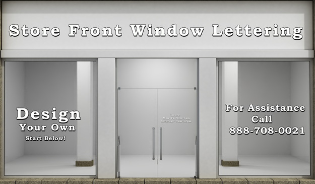 Custom window lettering decals glass decals automotive for Custom vinyl windows online
