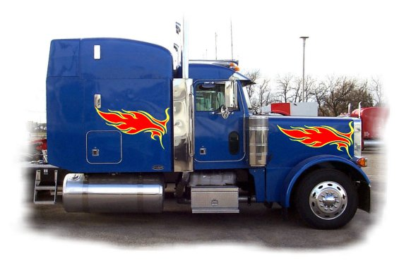 Truck Graphics Package 12 Semi Flame Graphics 2 Color